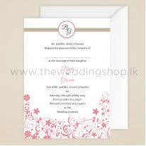 wedding invitations Elegance Wedding Cards Sri Lanka floral simplicity wedding invitation Sri Lankan Wedding Sarees