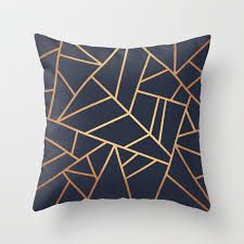 navy throw pillows.  Navy Copper And Midnight Navy Throw Pillow In Pillows
