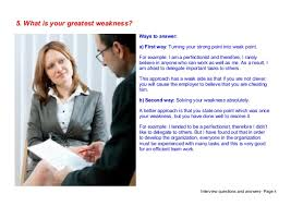 Sample Weaknesses For Interview Interview Weakness Examples Answers