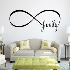 wall decal family art bedroom decor removable bedroom wall stickers home decoration infinity symbol word family letter quote vinyl art decals adesivos de paredes