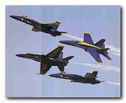 us blue angels military aircraft jet aviation airplane wall decor art print poster 16x20