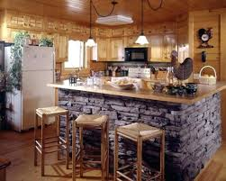 Stone Kitchen Islands Kitchen Island Bar Ideas For Country Rustic