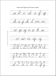 Alphabet Cursive Writing Letter Formation Worksheets A Z Handwriting ...