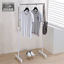 Adjustable Coat Rack Metal Hanger Clothes Hanging Drying Rack Single Rail Clothes Rack 42
