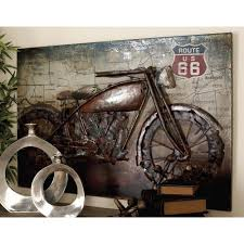 motorbike 3d metal wall art