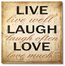 adeco decorative wood wall hanging sign plaque live laugh love beige