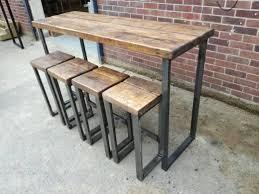 Industrial Style High Bar Table In 2019 High Bar Table