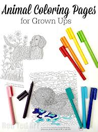 Small Picture Animal Coloring Pages for Grown Ups Dog and Otter Designs Red