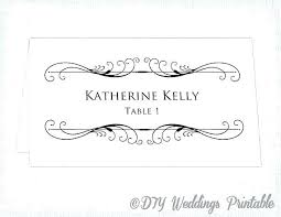 Place Cards Template For Word Word Template For Place Cards Highendflavors Co