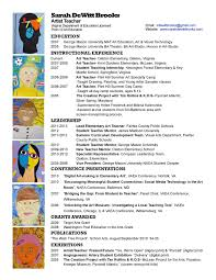 Resume Art Teacher Resume Examples