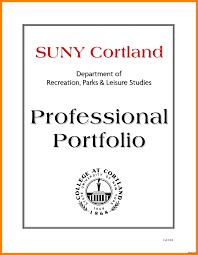 Resume Portfolio Cover Page Professional Portfolio Cover Page 100 Letter Resume 100 100a Sample 10