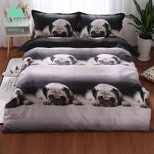 wazir 3d printing pug bedding set home textiles duvet cover pillowcase comforter bedding sets bed linen