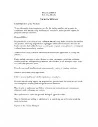 Housekeeper Job Description Template Pleasing Resume Format For