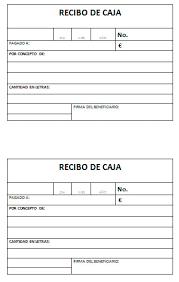 Modelo De Recibo Modelo De Recibo De Cajas Modelo Plantilla
