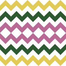 Pink Green And Yellow Chevron Stripes Fabric Jessdesigned