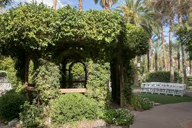 the gazebo where outdoor wedding services are held at the garden wedding chapel at
