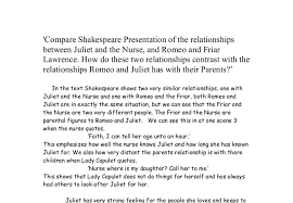 compare shakespeare presentation of the relationships between  document image preview