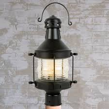 Nautical Post Lights Rustic Nautical Outdoor Post Light Shades Of Light