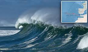 A megatsunami is a very large wave created by a large, sudden displacement of material into a body of water. La Gran Ola Claims Tsunami Could Hit Spain And Portugal Daily Mail Online