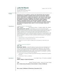 Example Teacher Resumes Cool First Year Teacher Resume Examples Creative Create Photo Gallery For