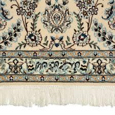 vintage square habibian nain persian rug signed weaver habibian
