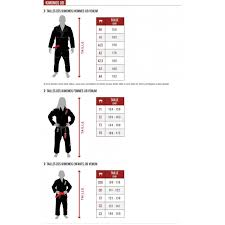 Venum Elite Gi Size Chart Art Kbjj 9011 Jpg Kakeado Brand Of Karatekas Industries