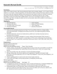 Media Broadcasting Resume International Broadcast Engineer Sample Resume Nardellidesign 16
