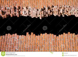 Small Picture Broken Brick Wall Design Template Or Pattern Royalty Free Stock