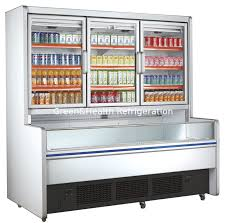 china retail commercial beverage display refrigerator with 3 glass doors supplier