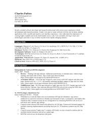 Mechanical Engineer Resume Template Free Sample For Software