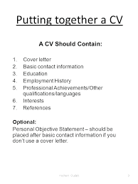 What Should I Put On A Cover Letter What You Should Put On A Resume