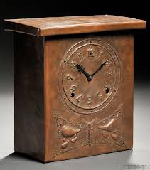 mantel clock arts and crafts copper rectangular case repousse stylized butterfly  on wall clock arts and crafts with 271 best craftsman clocks images on pinterest artesanato