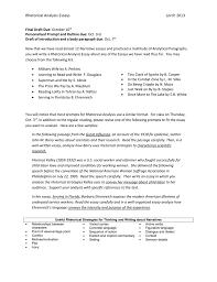 Rhetorical Analysis Essays Lorch 2013 Final Draft Due October 10