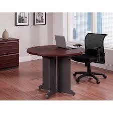 Ameriwood Home Pursuit Round Office Table Bundle Multiple Colors