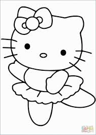 Hello Kitty Colring Sheets Girl Dancing Coloring Pages Awesome Coloring Pages Hello