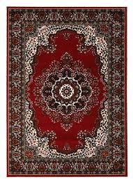 traditional pattern medallion flooring rug area carpet red 230x160cm