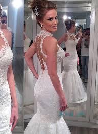halter neck wedding dresses sexy simple sheath cheap wedding gown