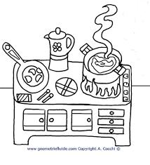 Cucina E Cibi Da Colorare