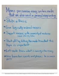Opinion Writing Anchor Chart Beautiful Oreo Persuasive
