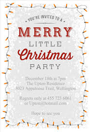 ... Free Holiday Party Invitation Templates A Merry Little Christmas Simple  Design Lamp Background Design Ideas Cards ...