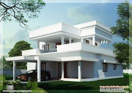 home design sqfeet beautiful flat roof home design indian house