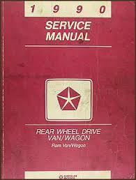 1990 dodge ram van wagon repair shop manual original b100 b350 1990 dodge ram van wagon shop manual original b100 b350