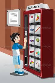 Buying Vending Machines Impressive Kid Buying Candy From A Vending Machine Vending Machine Font Logo