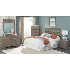 Kith Furniture Mulberry 4 Piece Queen Bedroom Set In Grey Antique ...