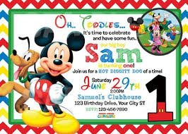 mickey mouse party invitation mickey mouse 1st birthday invitations mickey mouse
