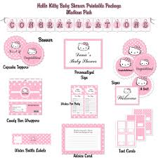 hello kitty hybrid printable baby shower printable package pink hello kitty hybrid baby shower printable package