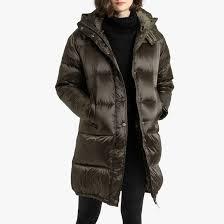 <b>Куртка стеганая</b> длинная с капюшоном из водоотталкивающей ...