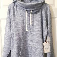 powder blue hooded pullover