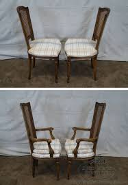 thomasville cane back dining set restoration hardware vintage french round cane back dining chairs vintage set of 8 french louis xvi style walnut cane back