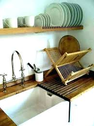 wall plate racks wood wooden wall plate rack mounted dish bamboo utensil holder wood hanging mount